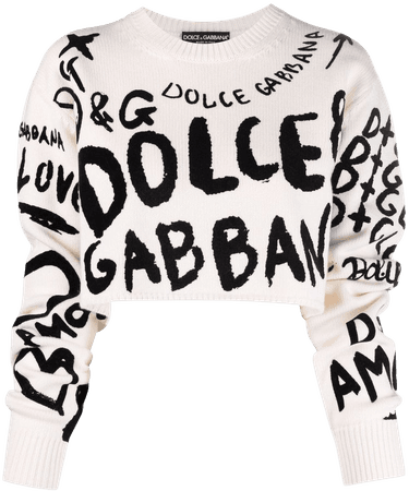 Dolce & Gabbana logo-print Cropped Jumper - Farfetch