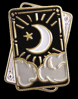 Halloween Witchy Tarot & Crystal Enamel Pin Set