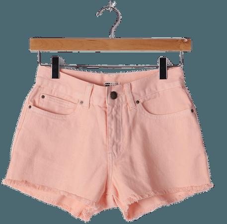 Billabong Drift Away - Peach Denim Cutoff Shorts - Jean Cutoffs - Lulus