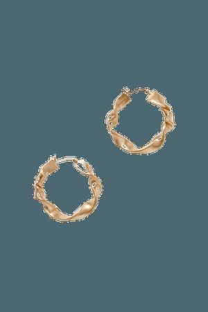 Gold Flux gold-plated hoop earrings | Completedworks | NET-A-PORTER