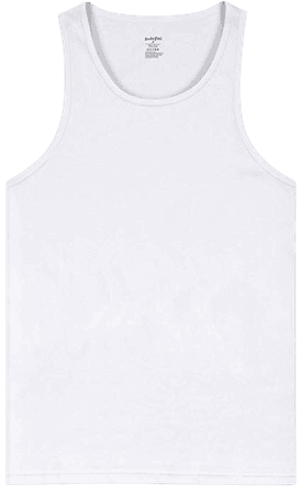 Indefini Men's Cotton Sleeveless Undershirts Fitted Tank Tops Crew Neck A-Shirts, 1 Pack of White - L at Amazon Men's Clothing store