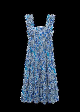 Paisley dress with ruffles - Women   Mango USA