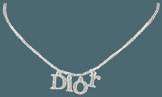 Pre-Owned Dior Rhinestone Logo Choker