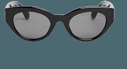 Modern cat eye sunglasses - Black - Sunglasses - Monki WW