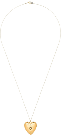 Gold Sasha Samuel 14kt gold-plated Anouk heart locket necklace SSLC44G - Farfetch