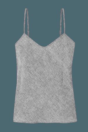 Dark gray Kita linen camisole | Miguelina | NET-A-PORTER