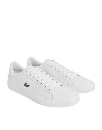 Lacoste lerond sneakers in white canvas | ASOS
