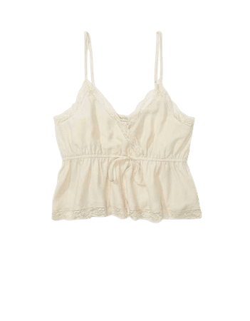 AE Lace Trim Tie-Front Cami