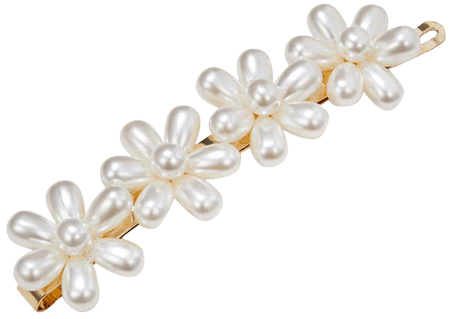 JESSICABUURMAN - DAFER PEARL FLOWER HAIRCLIP