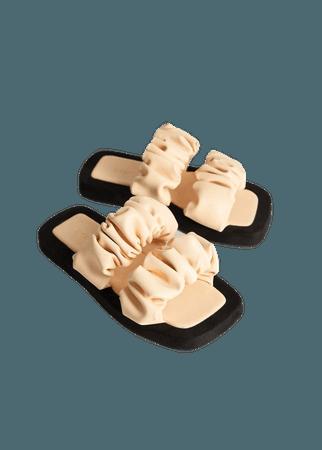 Ruched strips sandals - Women | Mango USA