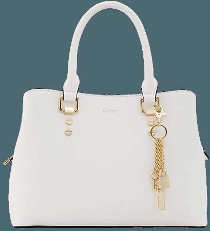 Aldo Women's Top Handle Satchel Handbag Legoiri, White, Small: Handbags: Amazon.com