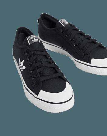 adidas Originals Nizza Trefoil sneakers in black | ASOS