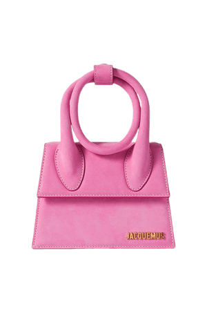 Le Chiquito Noeud Small Nubuck Shoulder Bag - Pink