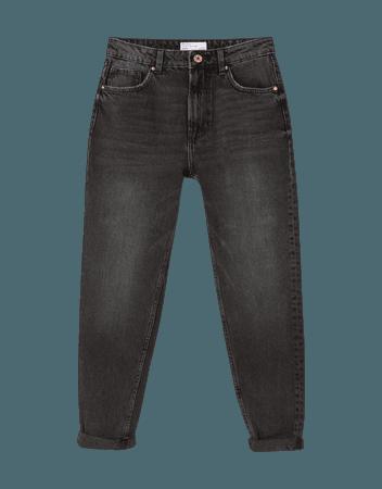 Mom jeans - Denim - Woman | Bershka