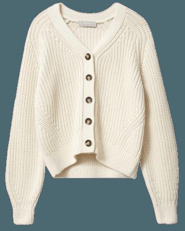 Women's Texture Cotton Cardigan | Everlane ivory