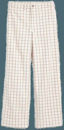 Slim Emmett Wide-Leg Full-Length Pants in Windowpane