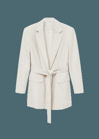 Belt structured blazer - Women | Mango USA
