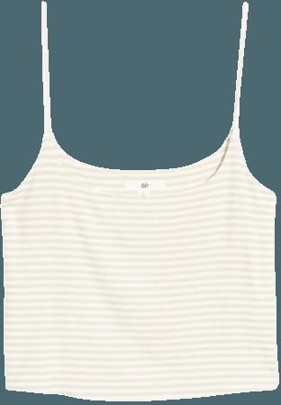 BP. Stripe Rib Crop Camisole   Nordstrom