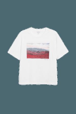 Cotton tee - White - T-shirts - Monki WW
