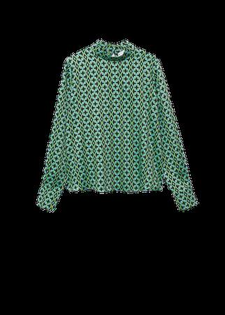 Geometric print blouse - Women | Mango USA
