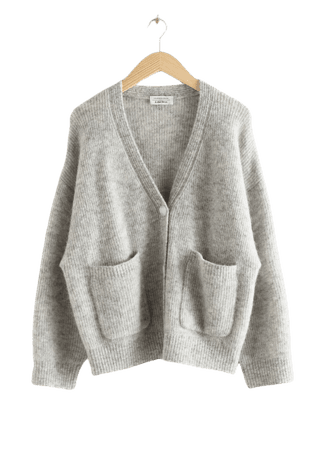 Alpaca Wool Blend Cardigan - Grey - Cardigans - & Other Stories