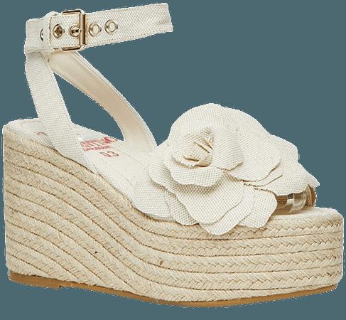 Atelier Floral Espadrille Platform Wedge Sandal