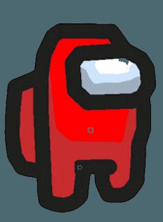 among us red character