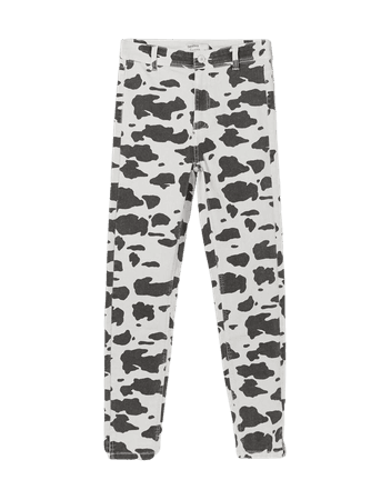 High-rise twill jeggings - Pants - Woman | Bershka