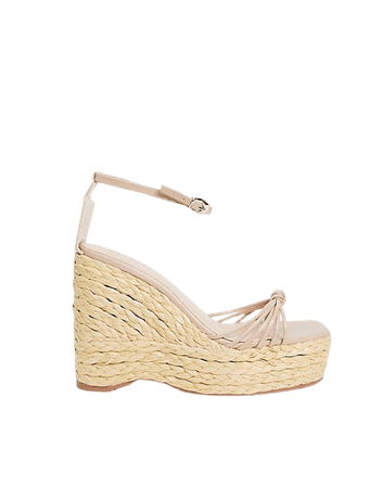 Simmi London Halima chunky strap wedge sandals in brown | ASOS