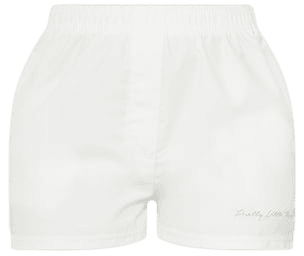 Prettylittlething Cream Peached Runner Shorts | PrettyLittleThing USA