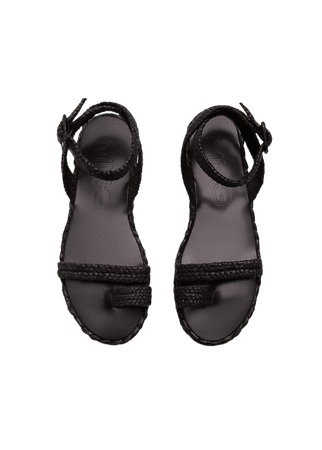 Raffia braided sandals - Women | Mango USA