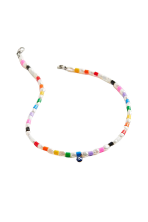Blackcurrant Pop The TAI Rainbow Pearl Beaded Necklace   Urban Outfitters