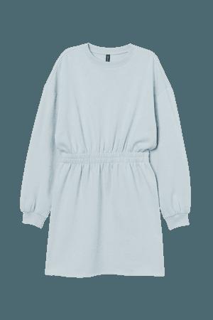 Sweatshirt Dress - Turquoise