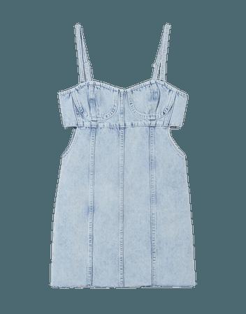 Cut-out denim dress - Dresses - Woman | Bershka