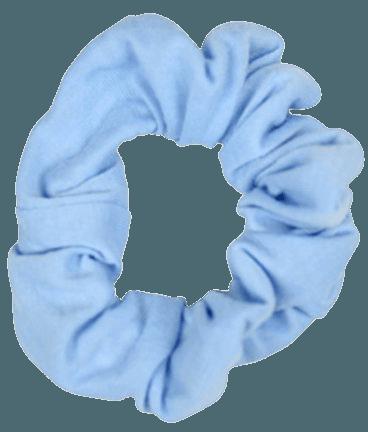 light blue scrunchie