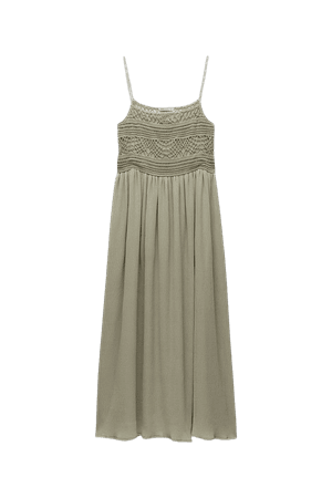 DRESS WITH CROCHET TRIM   ZARA United States