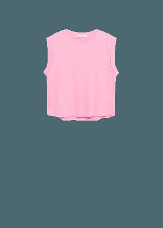 Pleated details t-shirt - Women | Mango USA
