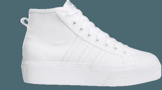adidas Nizza Platform Mid Shoes - White | adidas US