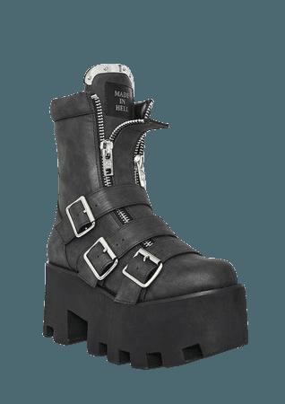 Current Mood Detroit Platform Boots | Dolls Kill
