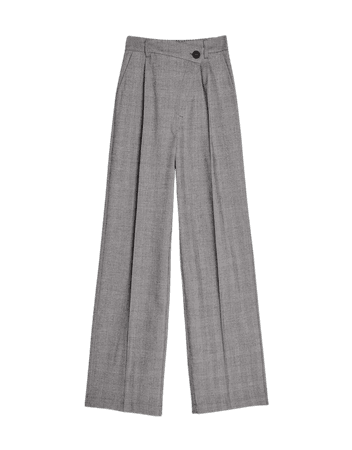 Wide-leg pants - Pants - Woman | Bershka Grey