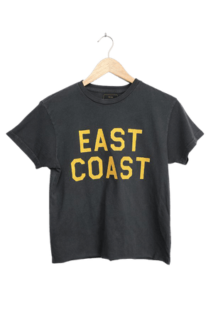 East Coast Graphic Tee - Vintage Tee - Washed Black Tee - Lulus
