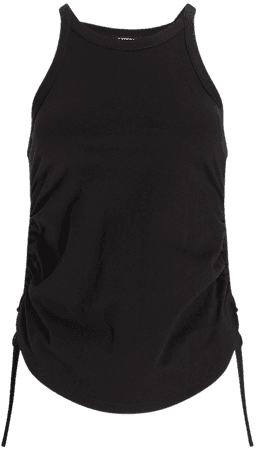 High Neck Ruched Side Tank   Express