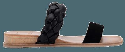 PERSEY SANDALS IN BLACK NUBUCK – Dolce Vita