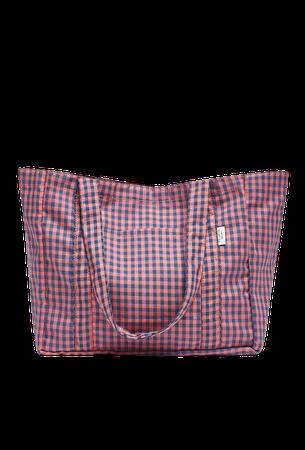 Checked tote bag - pull&bear