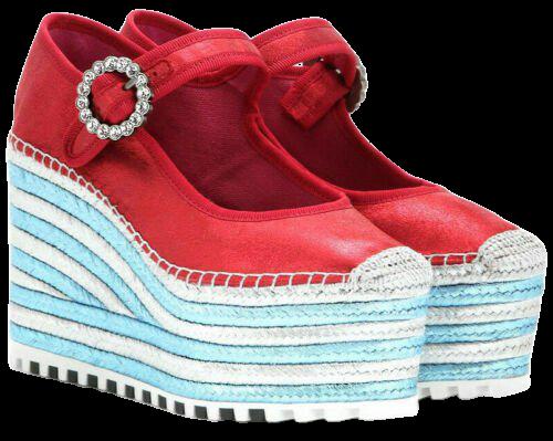 Marc Jacobs Anjelica Mary Janes Platform Wedge Shoe Red Size 36.5 / US 6.5 | eBay