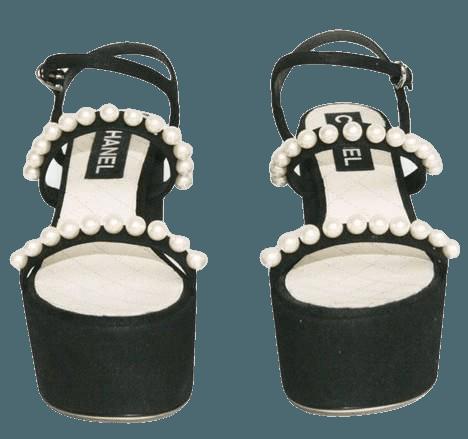 Chanel Platform Pearl Sandals