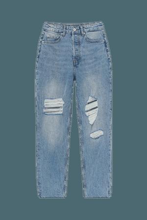 Mom High Ankle Jeans - Denim blue - Ladies   H&M US