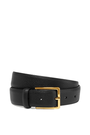 Black Textured-leather belt | Anderson's | NET-A-PORTER