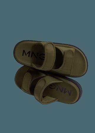 Velcro strap sandal - Women | Mango USA