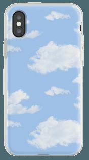 blue cloudy iphone case
